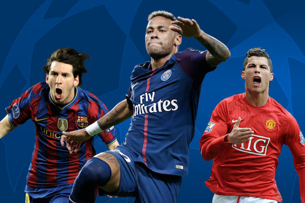 16ccce92caaed A Liga dos Campeões é onde se encontram os melhores clubes da Europa, e  onde brilham os grandes jogadores. Em sua sexta temporada no futebol  europeu, Neymar ...