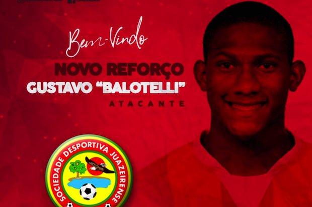 e7a640fca56bc Gustavo Balotelli não é mais jogador do Bahia. Nesta terça-feira, após ter  rescindido seu contrato com o Tricolor, o atacante foi anunciado como  reforço do ...