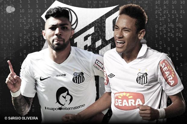 Neymar e Gabigol  comparação em 100 jogos pelo Santos    ogol.com.br 34be258ec78d8