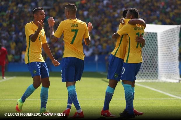 A seleção brasileira está a um jogo do ouro. Com direito ao gol mais rápido  da história do futebol nas Olimpíadas 37d3abc8fee93