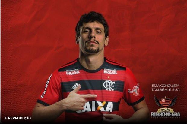 Rodrigo Caio é zagueiro do Flamengo. O time da Gávea confirmou oficialmente  a contratação neste sábado a3bb539ef9f3c